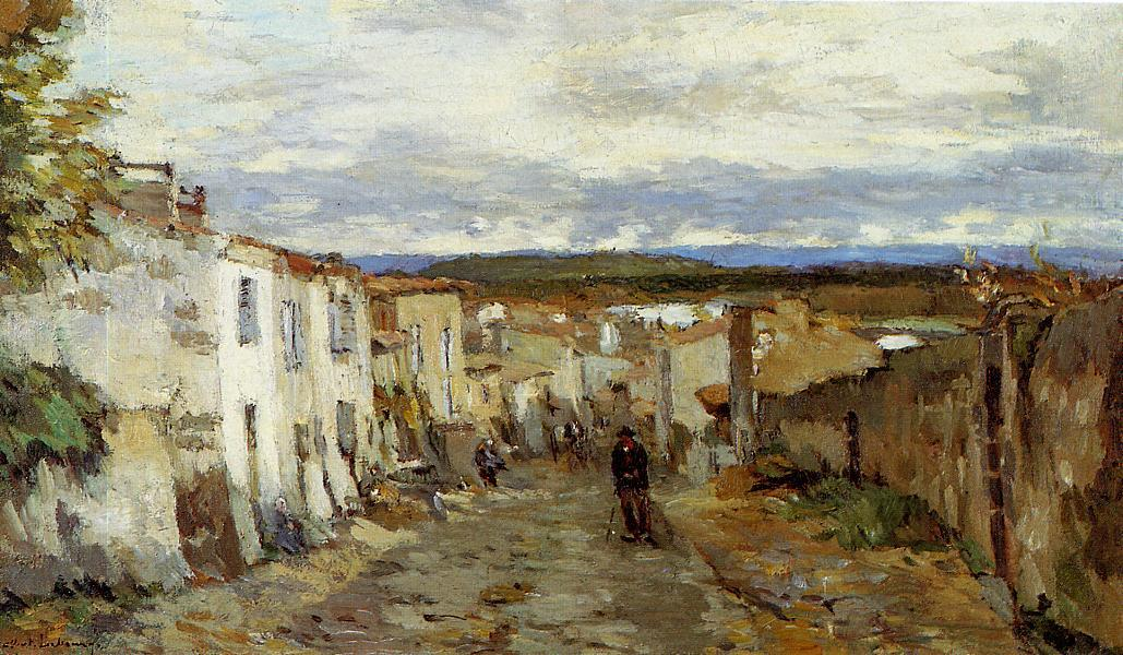 Street in Pont du Chateau 1885 | Albert Lebourg | Oil Painting
