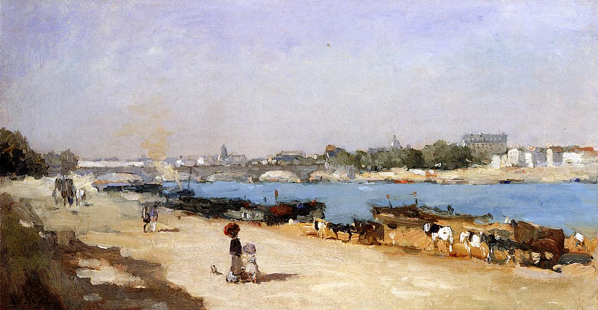 The Banks of the Seine at Bercy 1885 | Albert Lebourg | Oil Painting