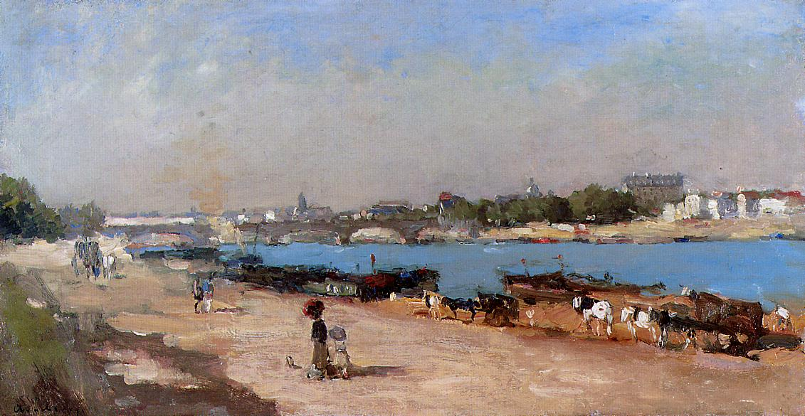 The Banks of the Seine at Bercy | Albert Lebourg | Oil Painting