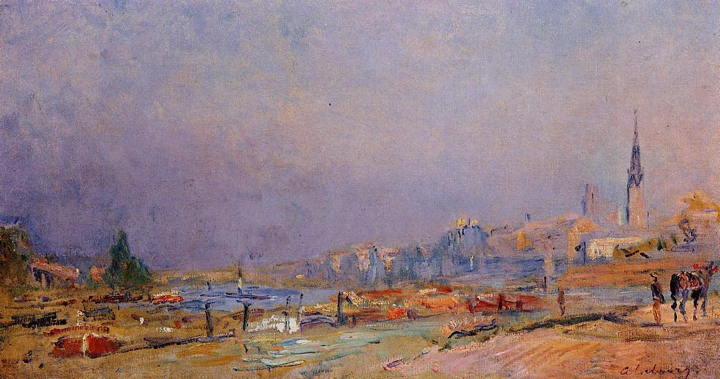 The Banks of the Seine at Rouen | Albert Lebourg | Oil Painting