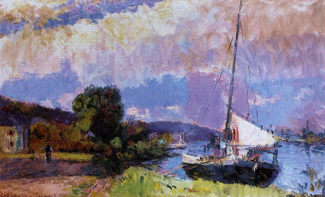 The Banks of the Seine Caumont in Summer 1911 | Albert Lebourg | Oil Painting