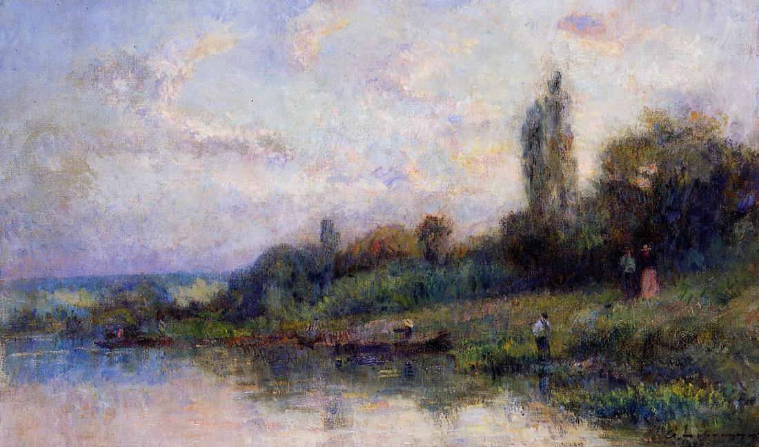 The Banks of the Seine 1905   Albert Lebourg   Oil Painting