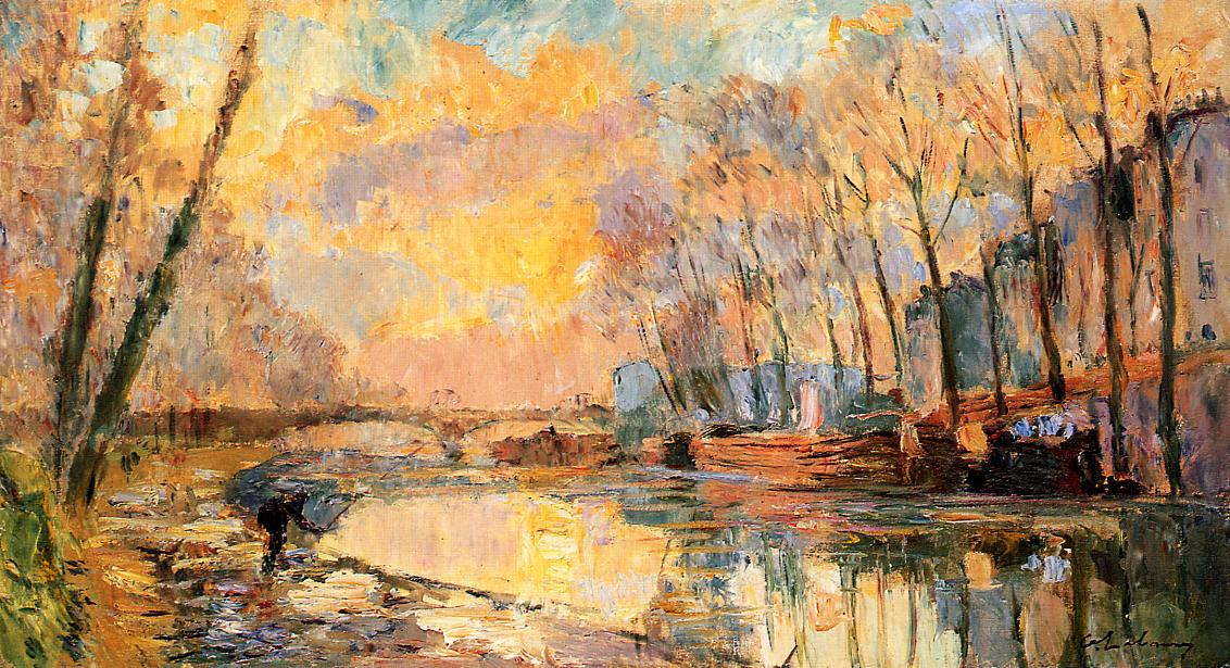 The Canal at Charenton | Albert Lebourg | Oil Painting