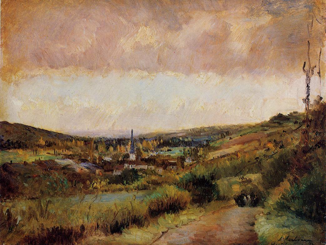 The End of Autumn at Hondouville-sur-Iton | Albert Lebourg | Oil Painting