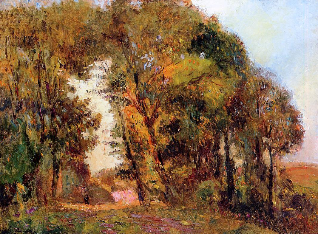 The Forest in Autumn near Rouen | Albert Lebourg | Oil Painting