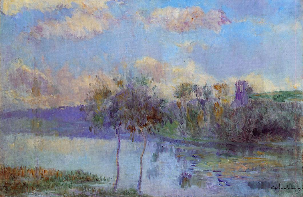 The Pond at Chalou-Moulineux near Etampes | Albert Lebourg | Oil Painting