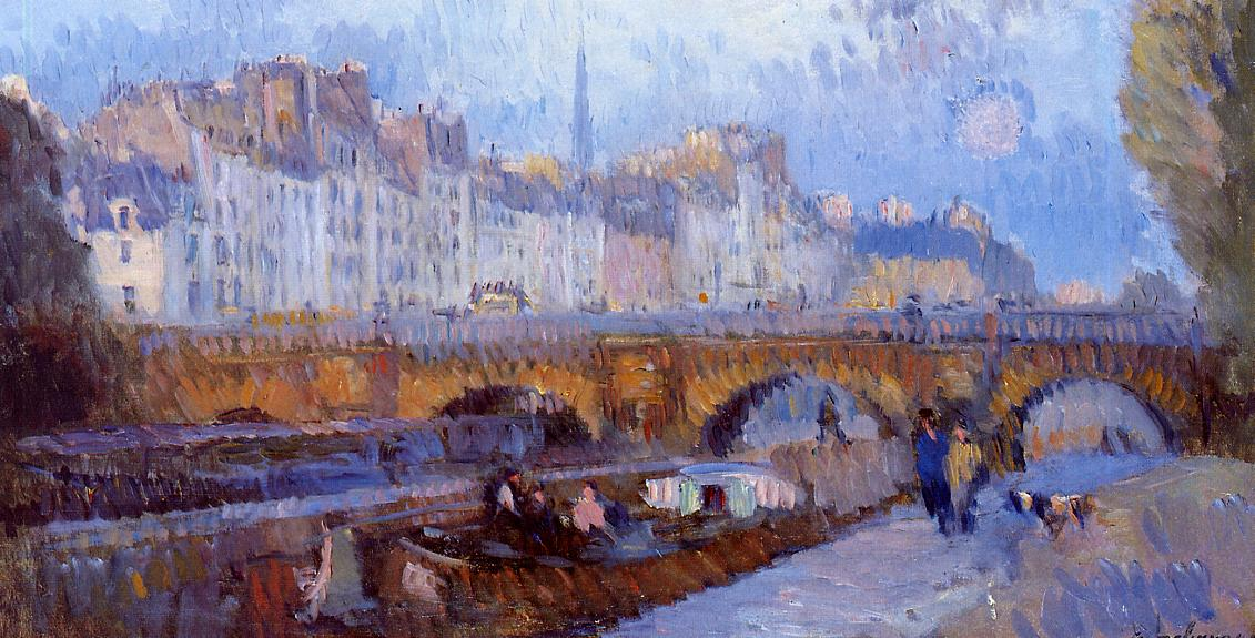 The Pont Neuf and the Monnaie Lock 1900 | Albert Lebourg | Oil Painting