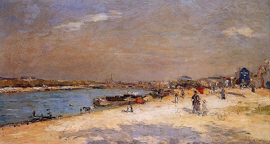 The Port of Bercy Unloading the Sand Barges | Albert Lebourg | Oil Painting