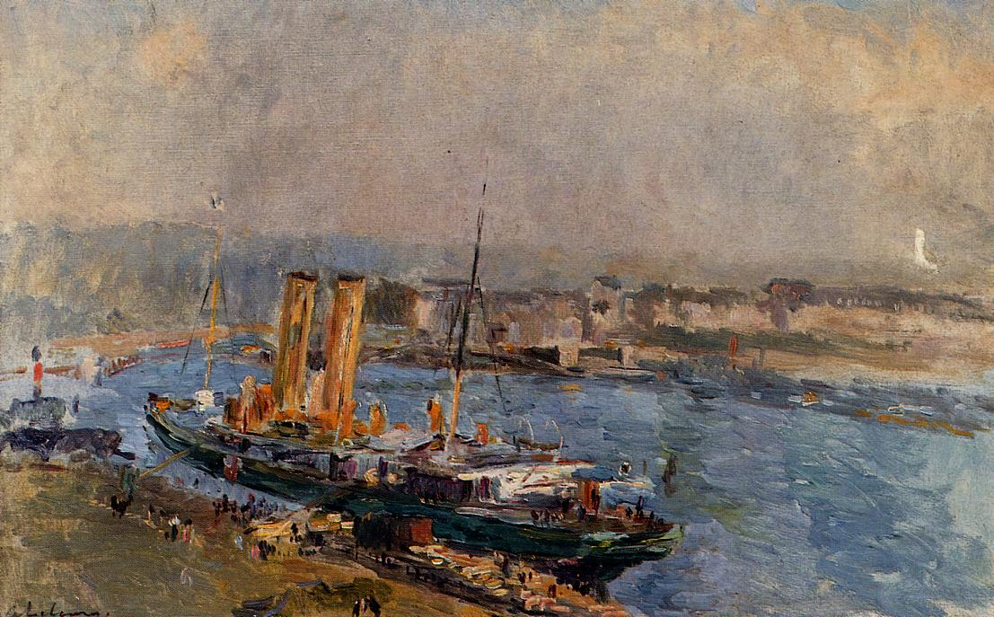 The Port of Rouen | Albert Lebourg | Oil Painting