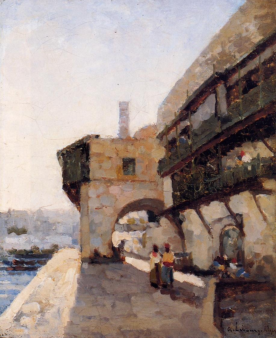The Quay de l'Amiraute in Algiers 1875 | Albert Lebourg | Oil Painting