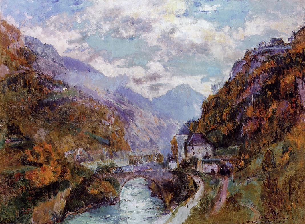 The Rhone at Saint-Maurice Valais (aka Switzerland) | Albert Lebourg | Oil Painting