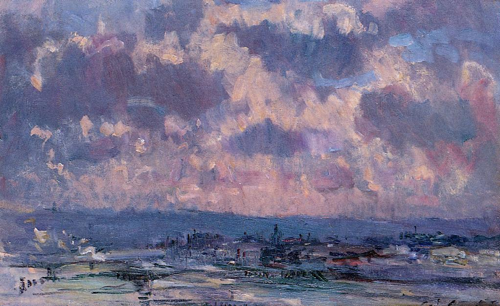 The Seine and the Faubourt Saint-Server Sky Study | Albert Lebourg | Oil Painting