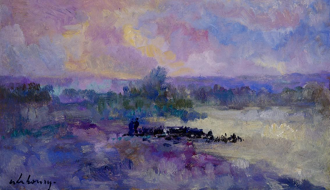 The Seine in the Vicinity of Rouen   Albert Lebourg   Oil Painting