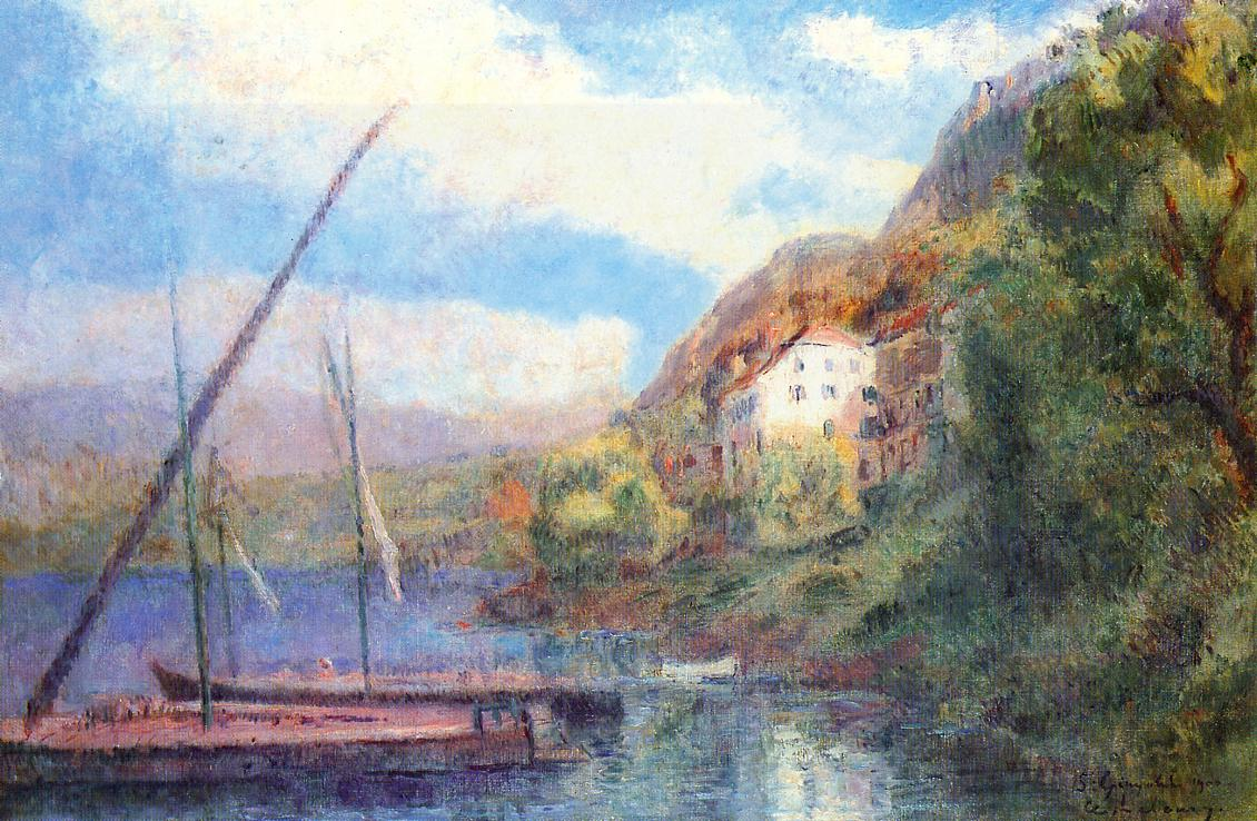 The Shores of Lake Geneva at Saint-Gingolph 1900 | Albert Lebourg | Oil Painting