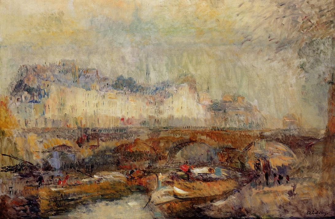 The Small Arm of the Seine at Pont Neuf | Albert Lebourg | Oil Painting