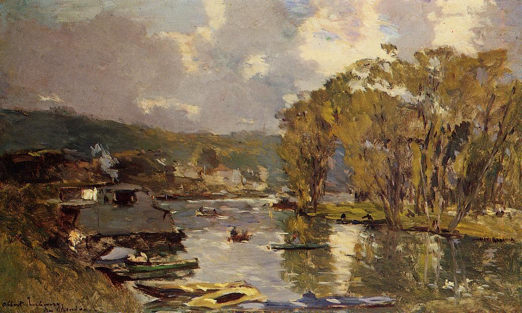 The Small Art of the Saine at Bas-Meudon in Autumn Evening 1893 | Albert Lebourg | Oil Painting