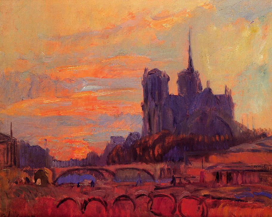 View of Notre Dame and the Seine | Albert Lebourg | Oil Painting