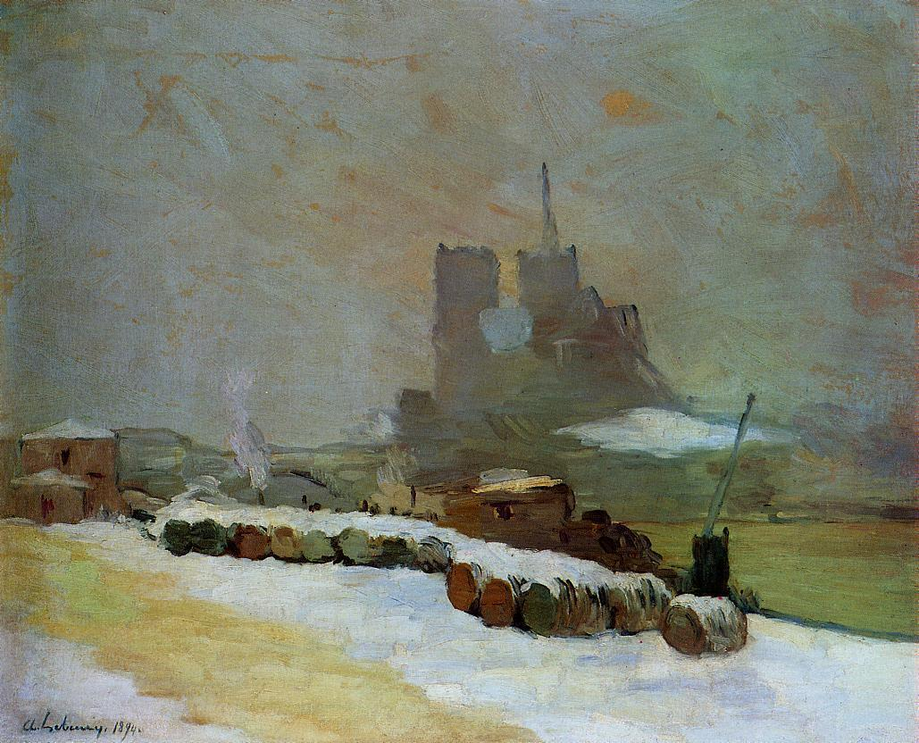 View of Notre Dame Winter 1894 | Albert Lebourg | Oil Painting