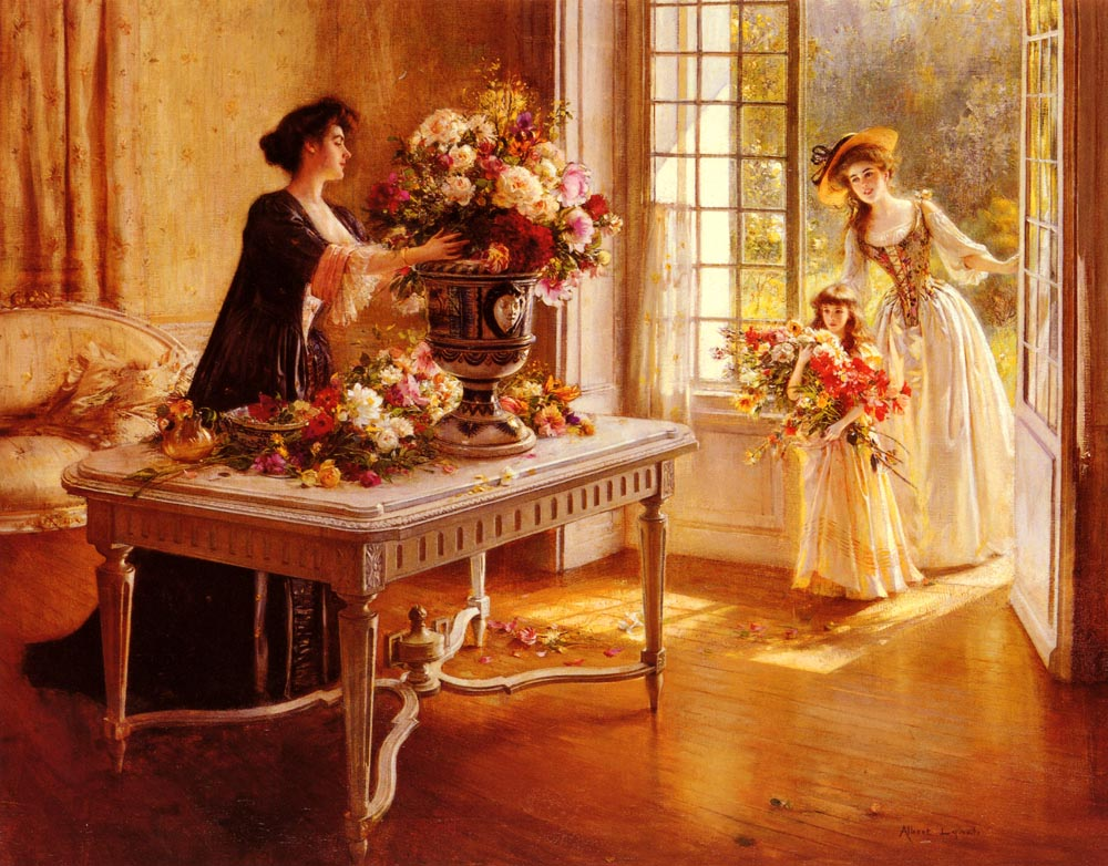 Fresh From The Garden | Albert Lynch | Oil Painting