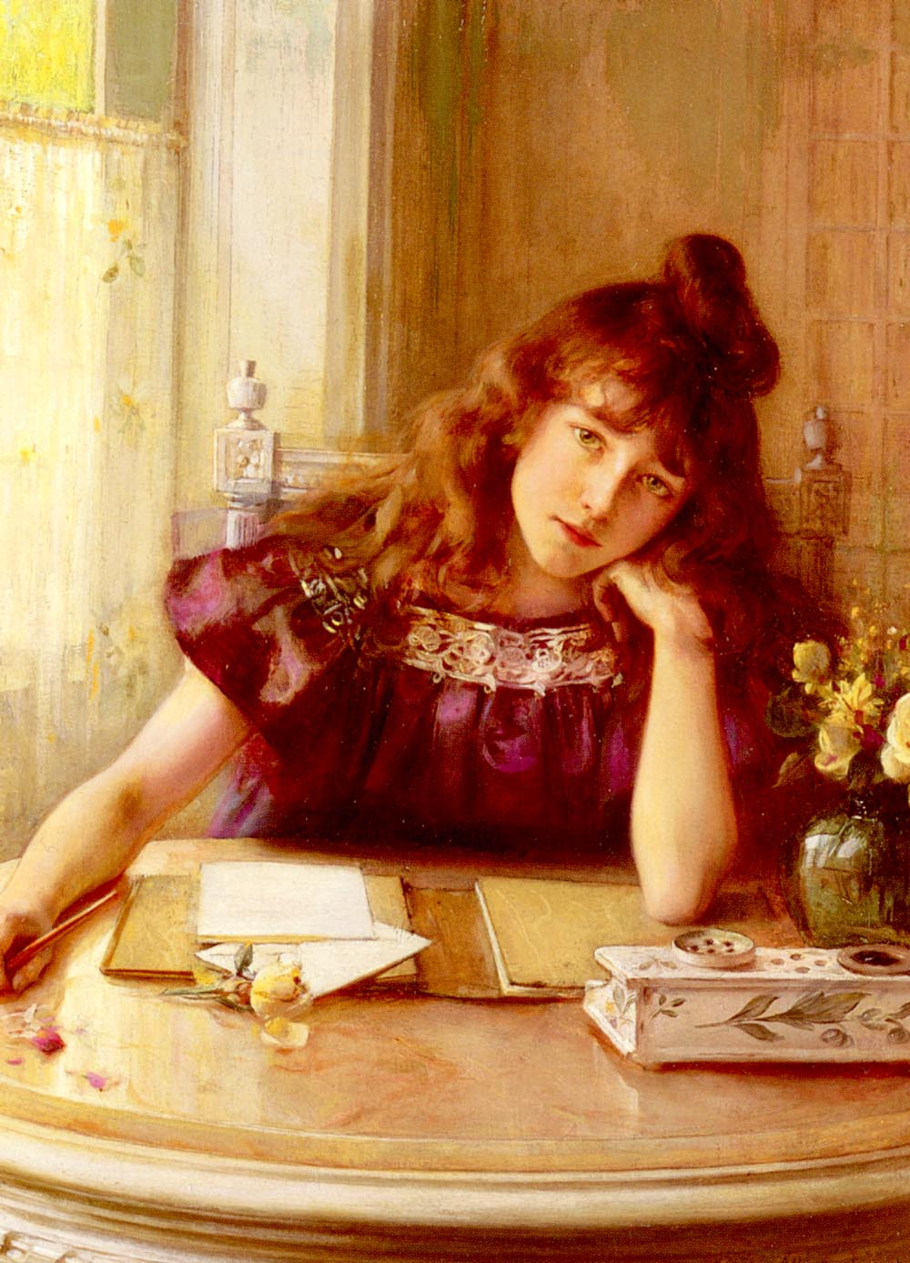 The Letter | Albert Lynch | Oil Painting