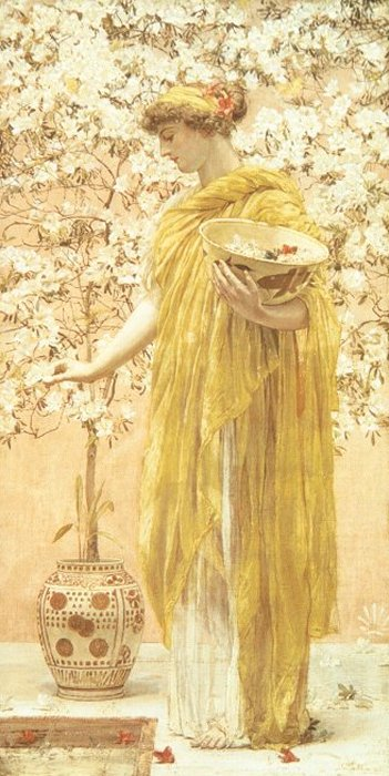 Azaleas 1867-68 | Albert Moore | Oil Painting