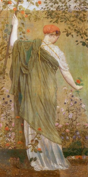 A Garden 1869 | Albert Moore | Oil Painting