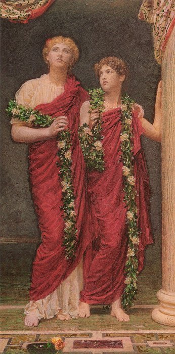 A Garland 1887-88 | Albert Moore | Oil Painting
