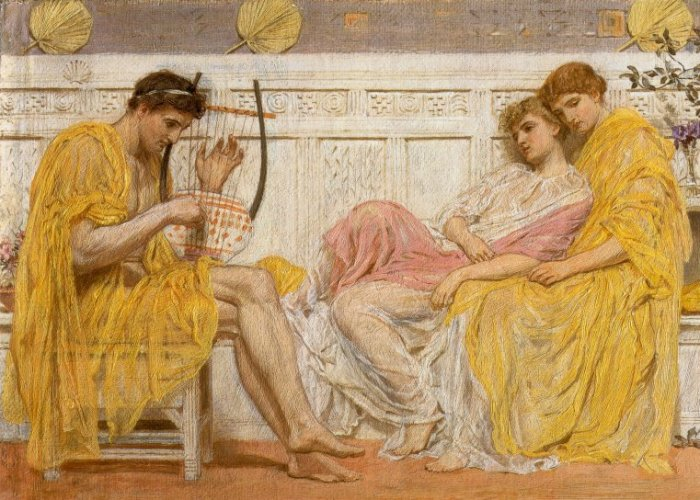 A Musician 1865-66 | Albert Moore | Oil Painting