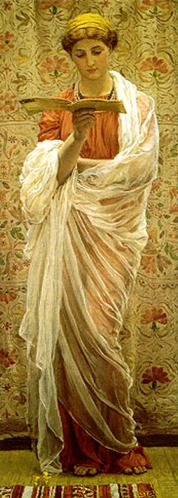 A Reader 1877 | Albert Moore | Oil Painting