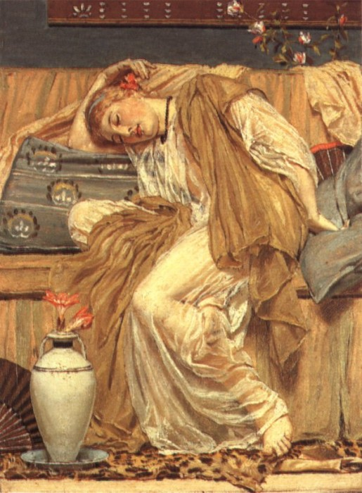 A Sleeping Girl 1875 | Albert Moore | Oil Painting
