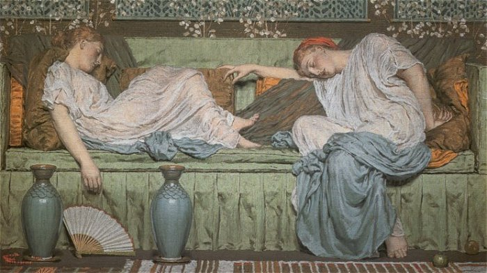 A Sofa 1875 | Albert Moore | Oil Painting