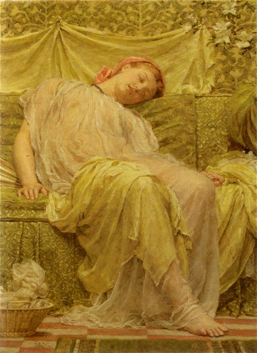 A Workbasket 1879 | Albert Moore | Oil Painting