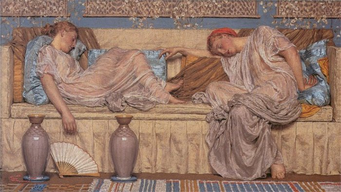 Beads 1875 | Albert Moore | Oil Painting
