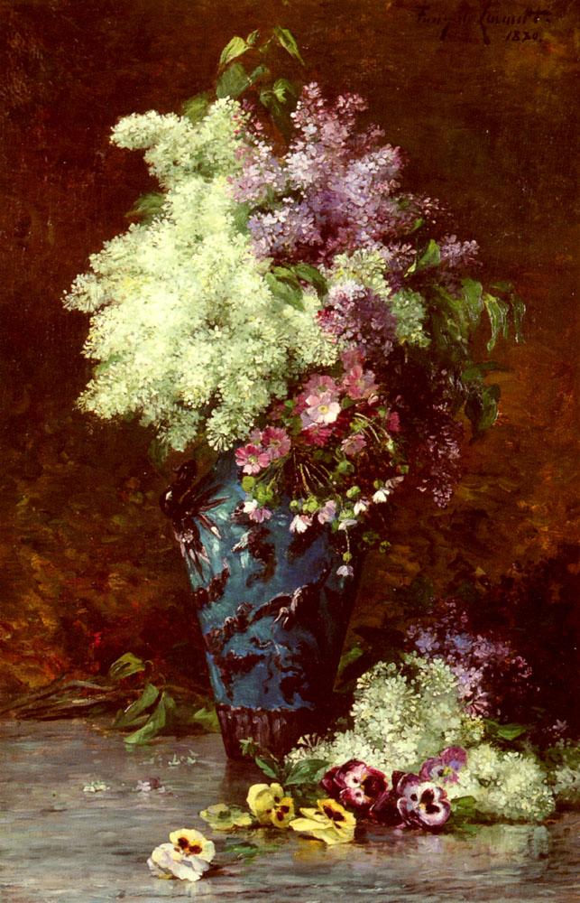 Fleurs | Albert Tibulle Furcy De Lavault | Oil Painting