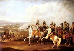 Austrian Staff Officers Watching The Progress of Battle | Albrecht Adam | Oil Painting