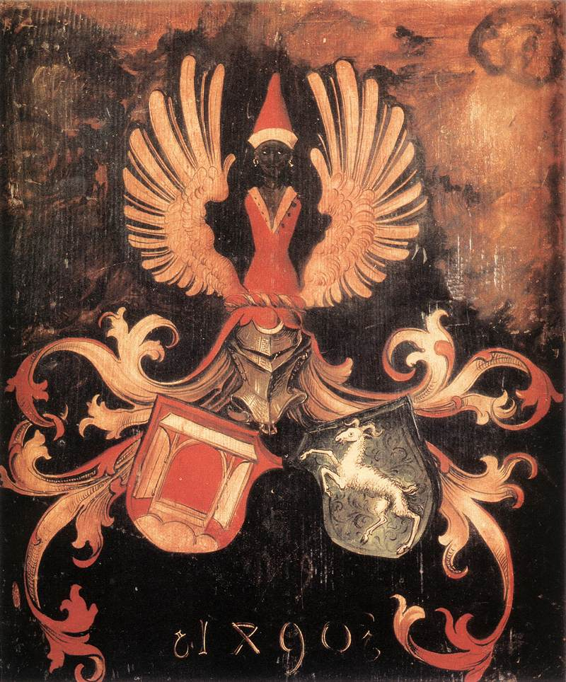 Alliance Coat Of Arms Of The Duerer And Holper Families 1490 | Albrecht Durer | Oil Painting