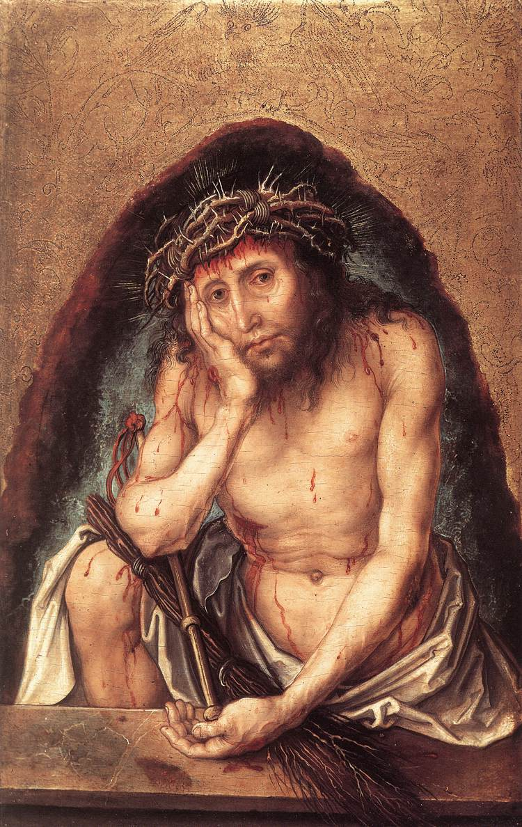 Christ As The Man Of Sorrows 1493 | Albrecht Durer | Oil Painting
