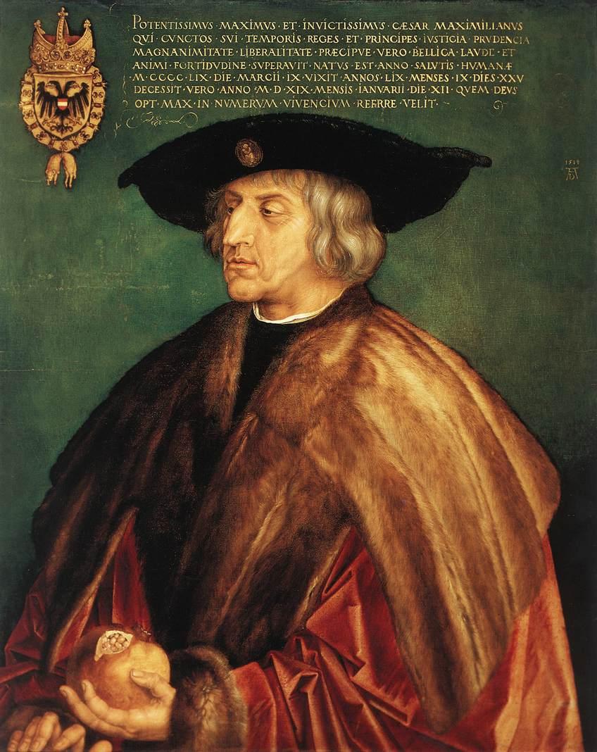 Emperor Maximilian I 1519 | Albrecht Durer | Oil Painting