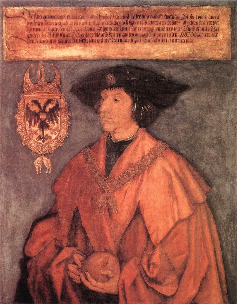 Emperor Maximilian I 1 1519 | Albrecht Durer | Oil Painting