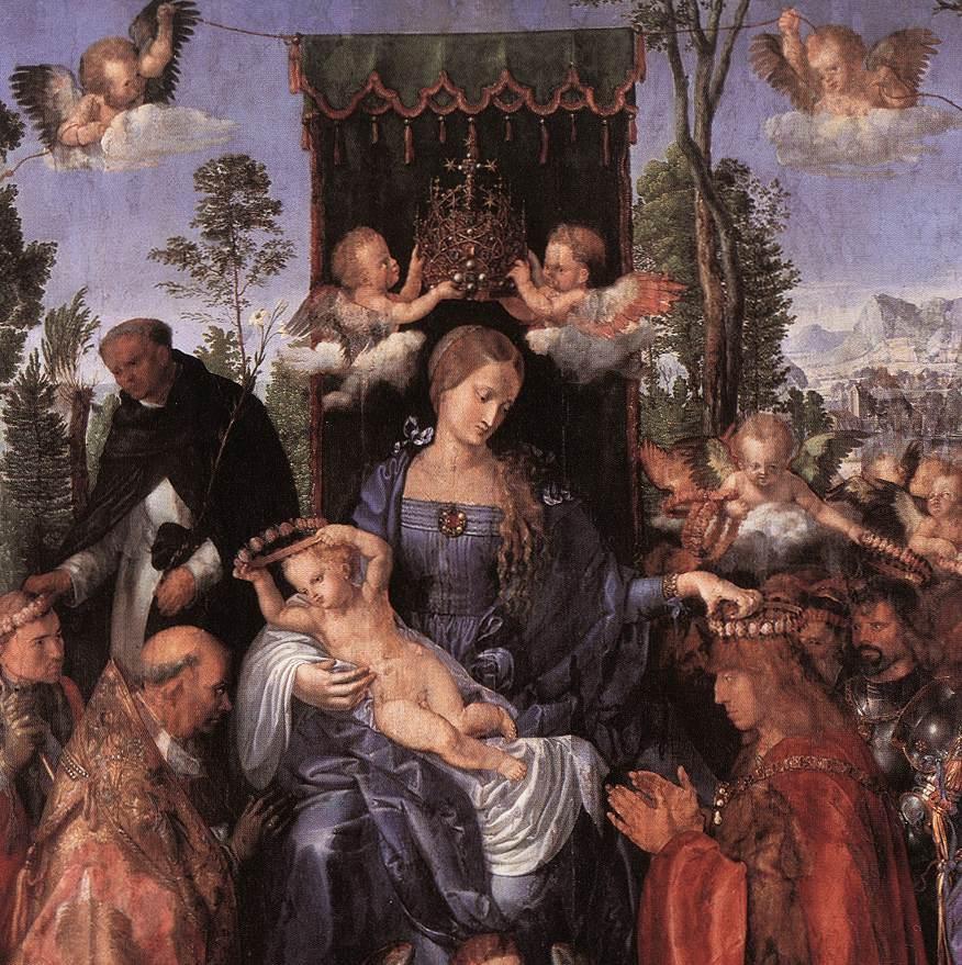 Feast Of The Rose Garlands (Detail) 1506   Albrecht Durer   Oil Painting