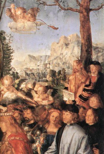 Feast Of The Rose Garlands (Detail) 1 1506 | Albrecht Durer | Oil Painting
