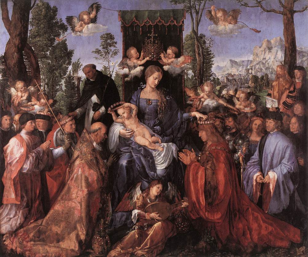Feast Of The Rose Garlands 1506 | Albrecht Durer | Oil Painting