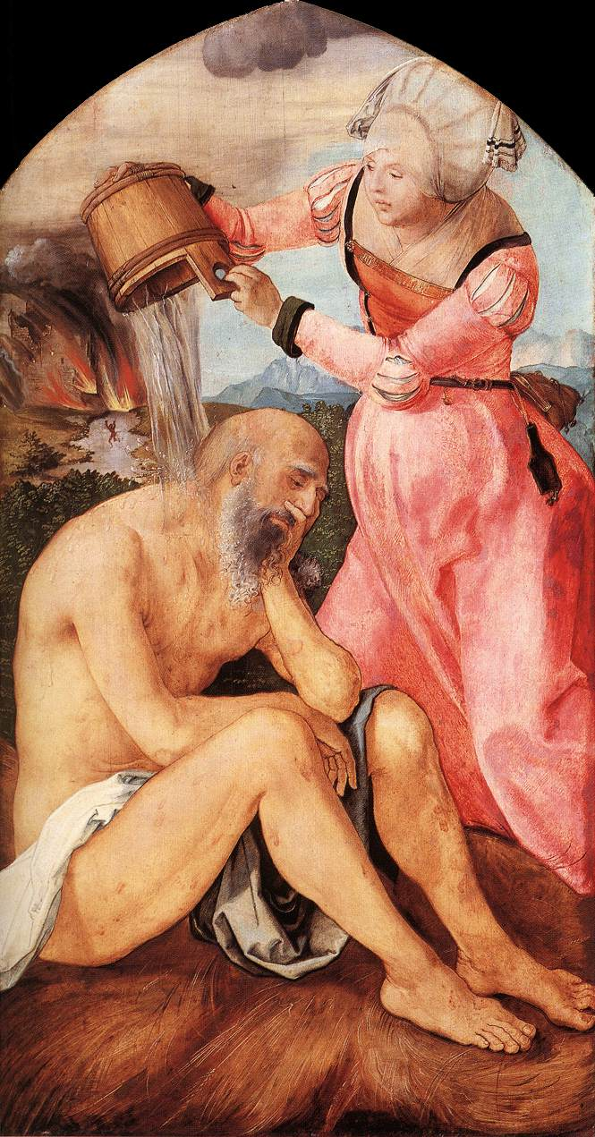 Job And His Wife 1504 | Albrecht Durer | Oil Painting