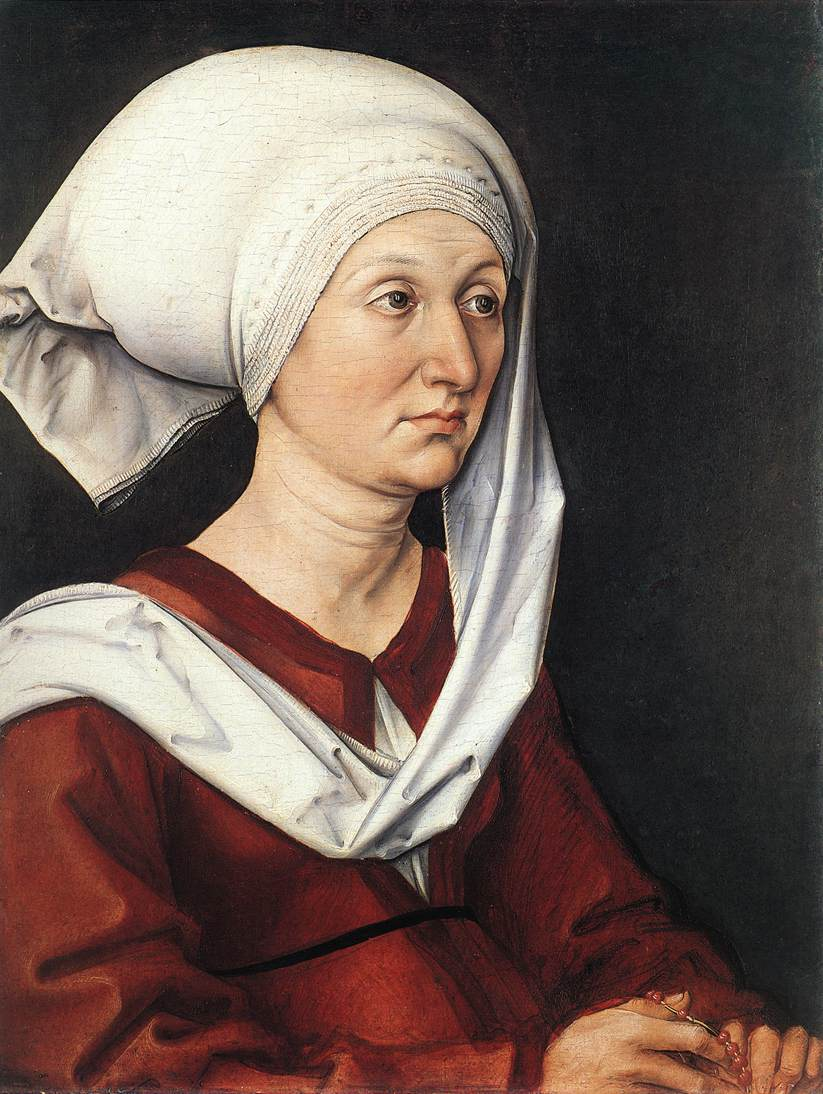 Portrait Of Barbara Duerer 1490 | Albrecht Durer | Oil Painting