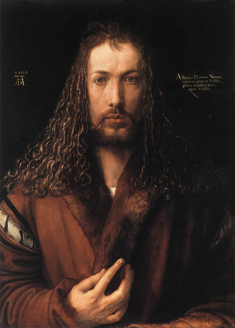 Self Portrait In A Fur Collared Robe 1500 | Albrecht Durer | Oil Painting