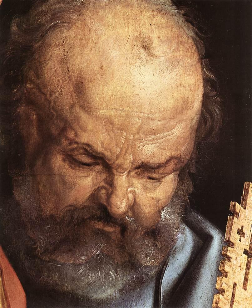 The Four Holy Men (Detail) 1526 | Albrecht Durer | Oil Painting