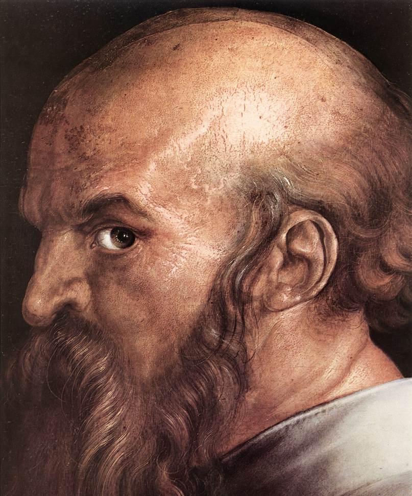 The Four Holy Men (Detail) 2 1526 | Albrecht Durer | Oil Painting