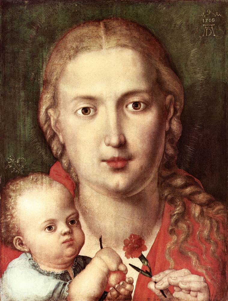 The Madonna Of The Carnation 1516 | Albrecht Durer | Oil Painting