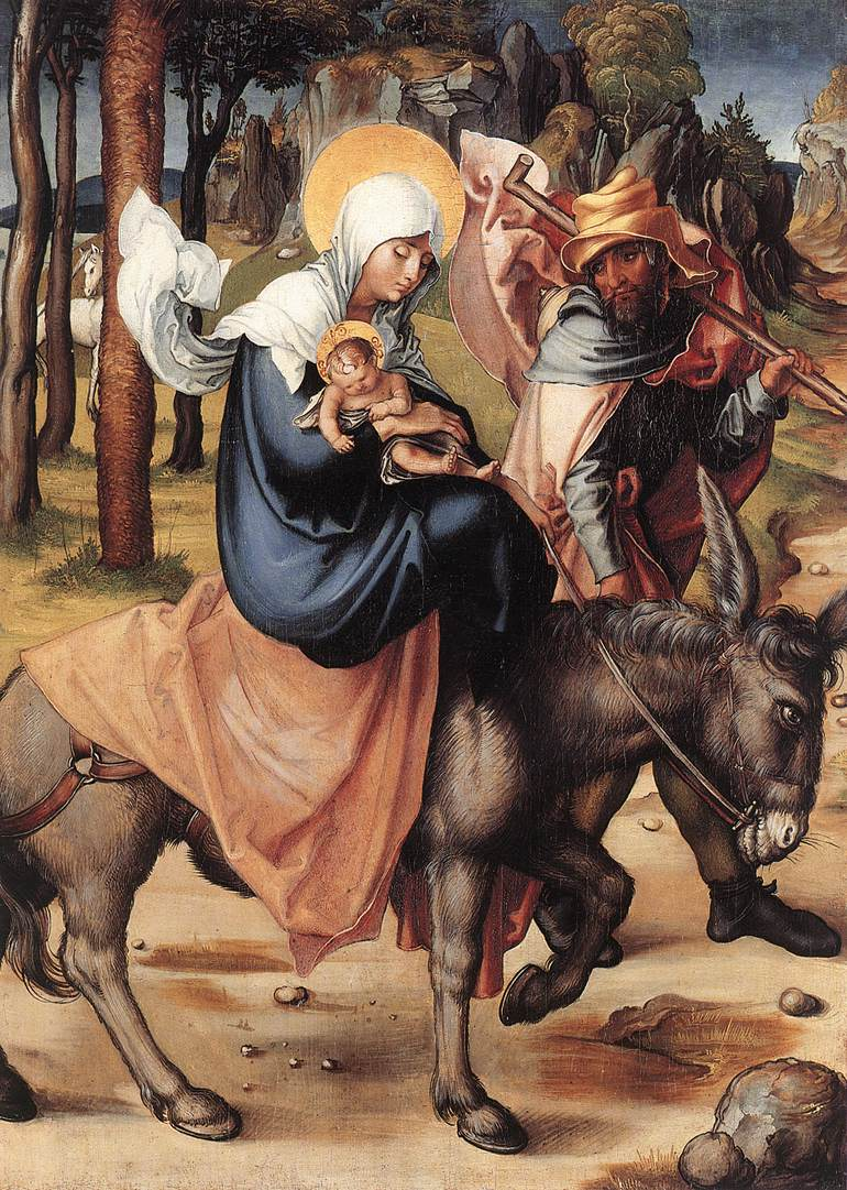 The Seven Sorrows Of The Virgin The Flight Into Egypt 1496 X | Albrecht Durer | Oil Painting