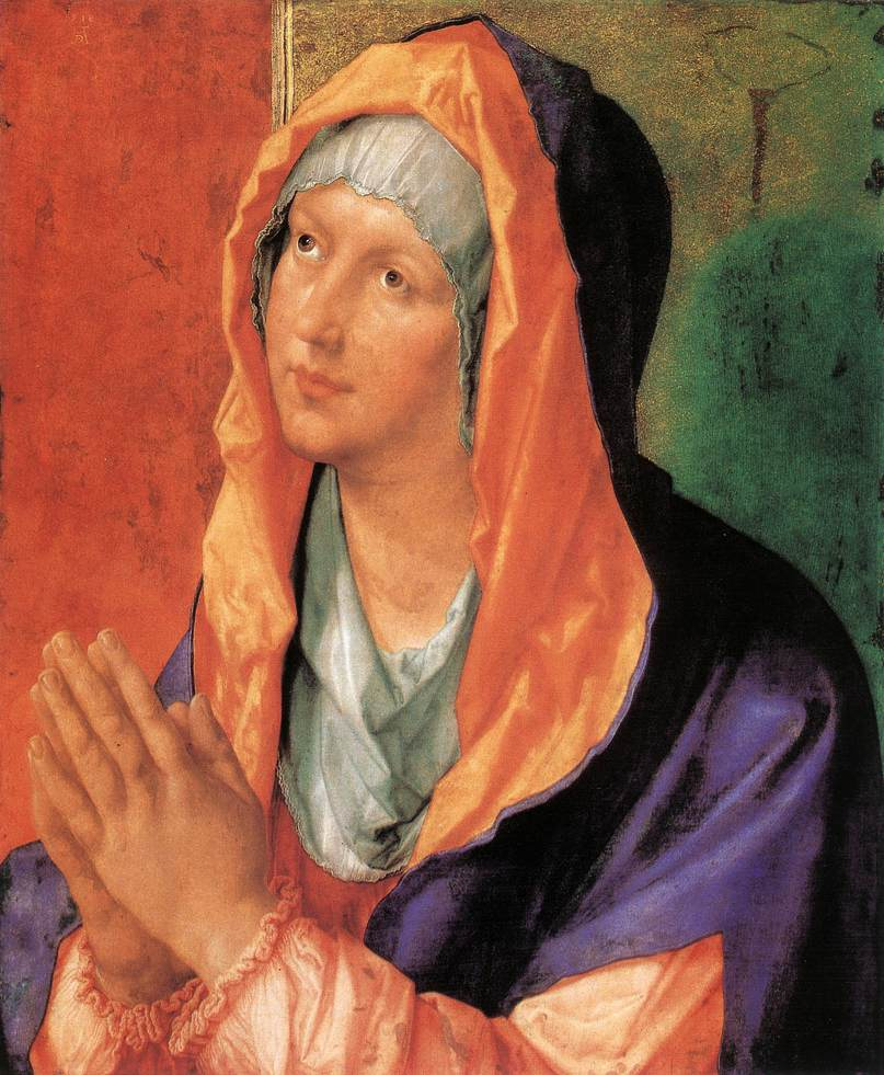 The Virgin Mary In Prayer 1518 | Albrecht Durer | Oil Painting